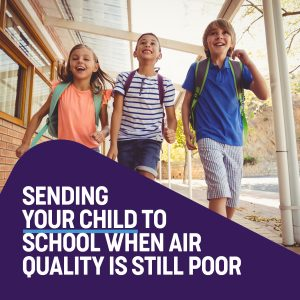 child to school poor air quality